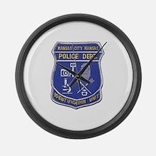 Kansas City Police ID Unit Large Wall Clock