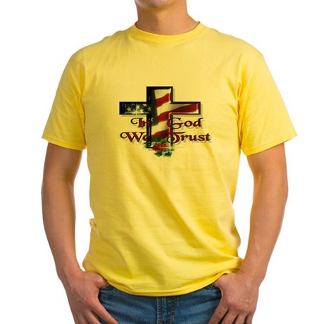 IN GOD WE TRUST Yellow T-Shirt
