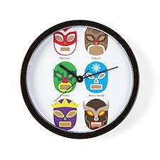 Lucha Libre Navidad Wall Clock