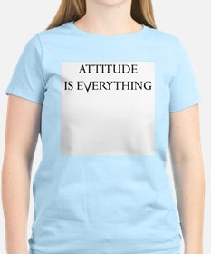 ATTITUDE IS EVERYTHING Women's Pink T-Shirt