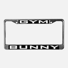 Gym Bunny License Plate Frame