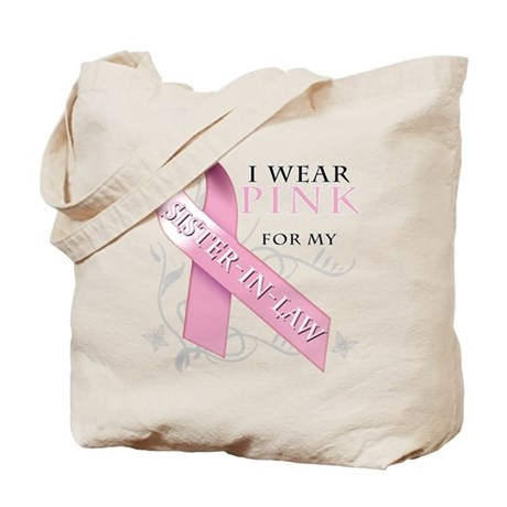 I Wear Pink for my Sister In Law Tote Bag