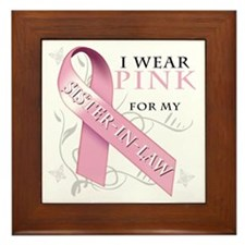 I Wear Pink for my Sister In Law Framed Tile