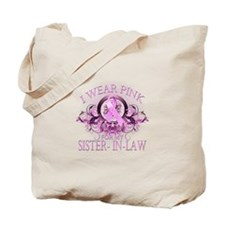 I Wear Pink for my Sister In Law (floral) Tote Bag