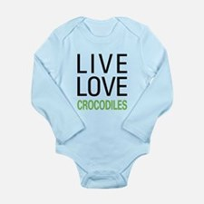 Live Love Crocodiles Long Sleeve Infant Bodysuit