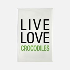 Live Love Crocodiles Rectangle Magnet