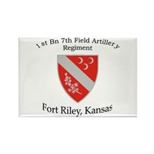 1st Bn 7th Field Artillery Rectangle Magnet