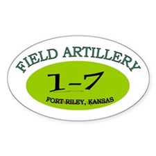 1st Bn 7th Field Artillery Decal