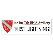1st Bn 7th Field Artillery Bumper Sticker