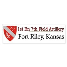 1st Bn 7th Field Artillery Bumper Sticker