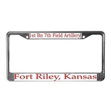 1st Bn 7th Field Artillery License Plate Frame