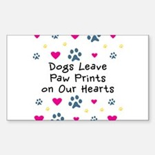 Dogs Leave Paw Prints Decal