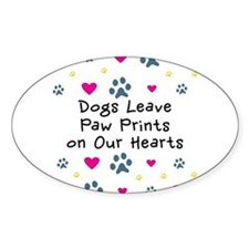 Dogs Leave Paw Prints Bumper Stickers