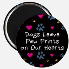 Dogs Leave Paw Prints Magnet
