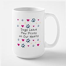Dogs Leave Paw Prints Large Mug