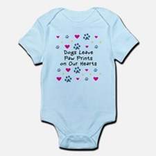 Dogs Leave Paw Prints Onesie