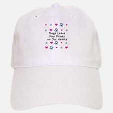 Dogs Leave Paw Prints Baseball Baseball Cap