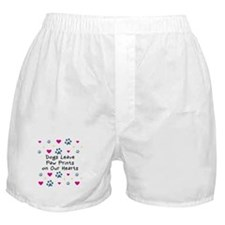 Dogs Leave Paw Prints Boxer Shorts