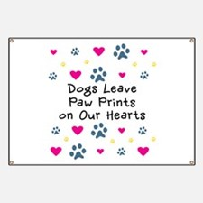 Dogs Leave Paw Prints Banner