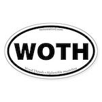 Wood Thrush Oval Sticker
