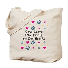 Cats Leave Paw Prints Tote Bag