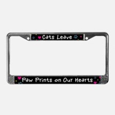 Cats Leave Paw Prints License Plate Frame