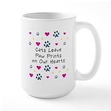 Cats Leave Paw Prints Mug