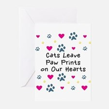 Cats Leave Paw Prints Greeting Cards (Pk of 20)
