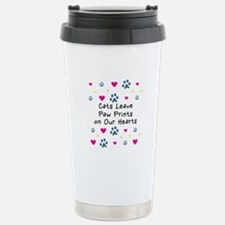 Cats Leave Paw Prints Stainless Steel Travel Mug