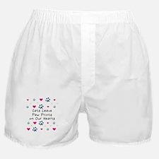Cats Leave Paw Prints Boxer Shorts