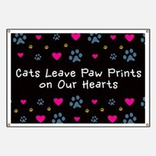 Cats Leave Paw Prints Banner