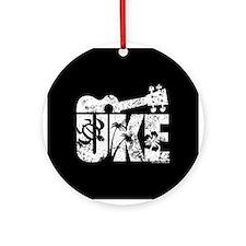 The Uke R Ornament (Round)