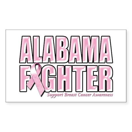 Alabama Breast Cancer Fighter Sticker (Rectangle)