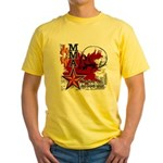 Blood in, Blood out MMA Yellow T-Shirt