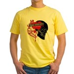 MMA Addict, In the Blood Yellow T-Shirt