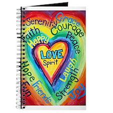 Rainbow Heart Spirit Words Journal