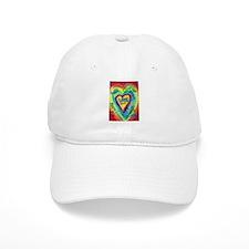Rainbow Heart Spirit Words Baseball Cap
