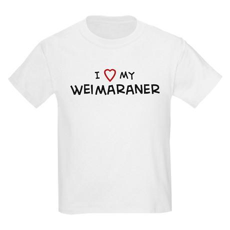 I Love Weimaraner Kids T-Shirt