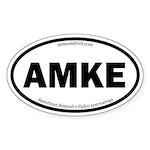 American Kestrel Oval Sticker