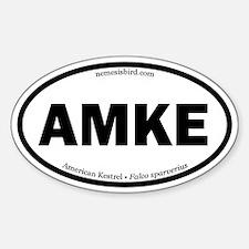 American Kestrel Oval Stickers