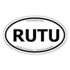 Ruddy Turnstone Oval Decal