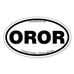 Orchard Oriole Oval Sticker