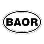Baltimore Oriole Oval Sticker