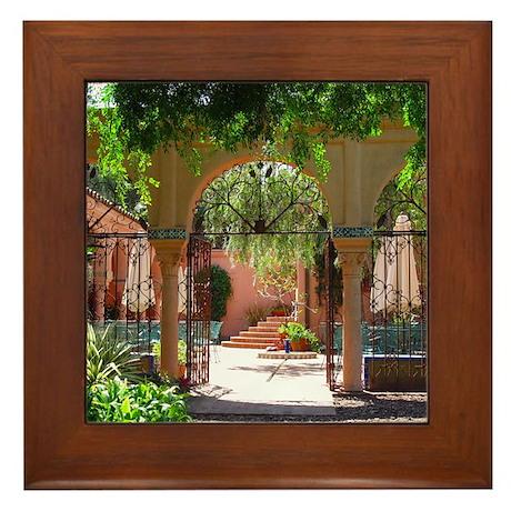 Lotusland Patio Framed Tile