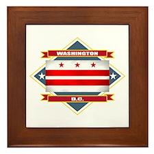 Washington DC Flag Framed Tile