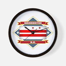 Washington DC Flag Wall Clock