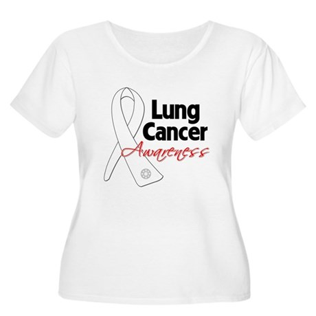 Lung Cancer Awareness Women's Plus Size Scoop Neck