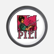 Pie with Vintage Art Wall Clock