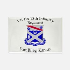 1st Bn 18th Infantry Rectangle Magnet