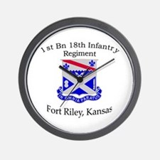 1st Bn 18th Infantry Wall Clock